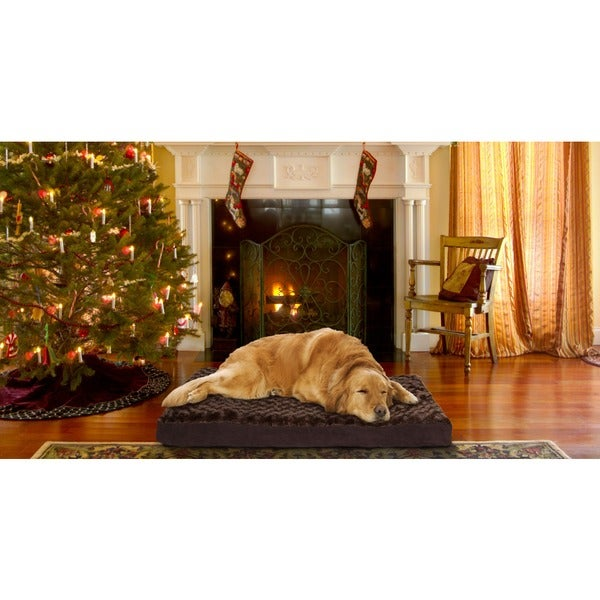 Furhaven Deluxe Ultra Plush Memory Foam Pet Bed