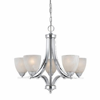 Lumenno Transitional 5-light Plated Chrome Chandelier