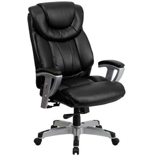 Hercules Series 400-pound Capacity Big and Tall Black Leather Office Chair with Arms