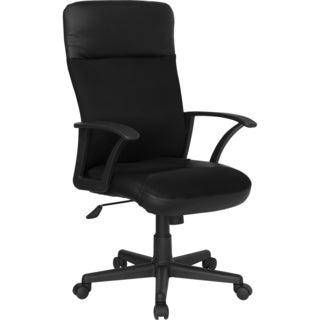 High Back Black Leather / Mesh Combination Executive Swivel Office Chair
