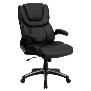 Black Leather Executive High Back Office Chair