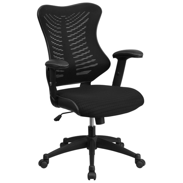 High Back Mesh Chair with Nylon Base