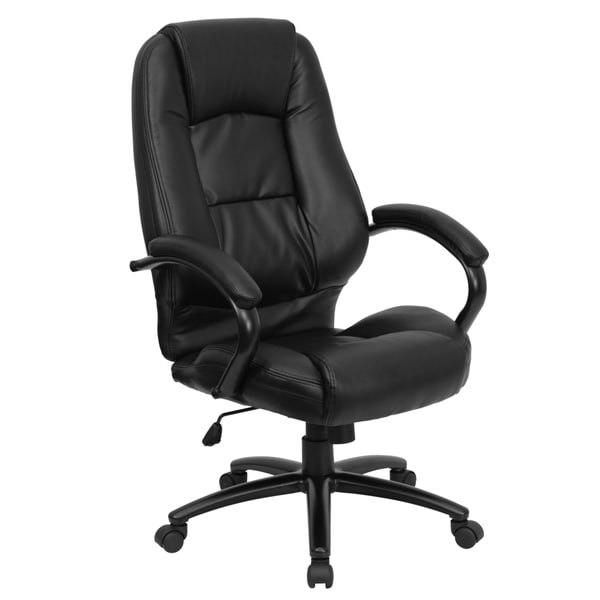 search results for executive black leather high back office chair