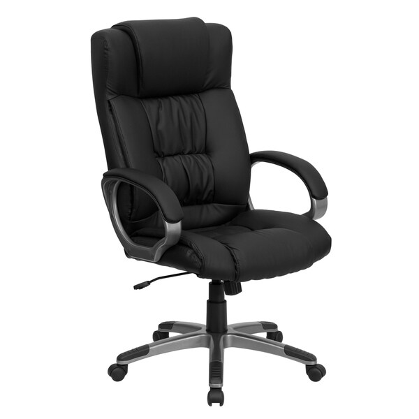 High Back Black Leather Office Executive Chair