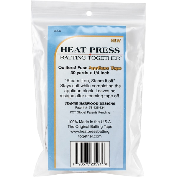 Heat Press Batting Together Applique Tape White.25inX30yd