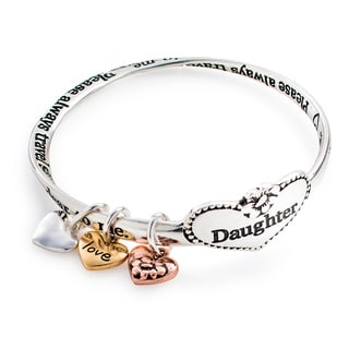 Silvertone 'Daughter Forever' Connected Bracelet