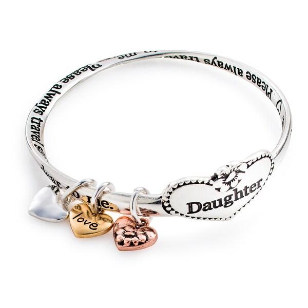 Silvertone 'Daughter Forever' Connected Bracelet