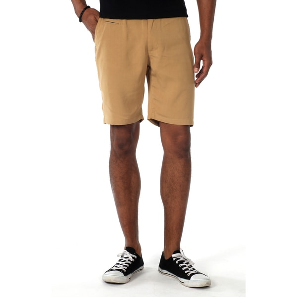 Filthy Etiquette Men's Flat front shorts in Khaki