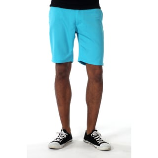 Filthy Etiquette Men's Flat front shorts in Blue