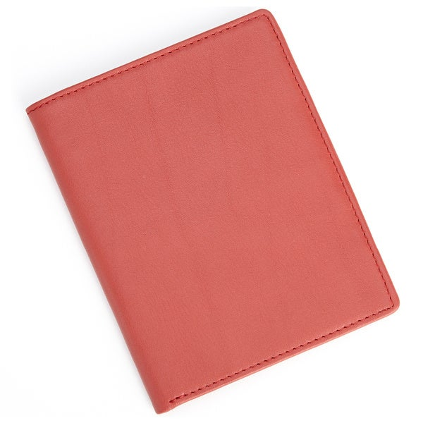 Royce Leather Red RFID BlockingPassport Currency Wallet