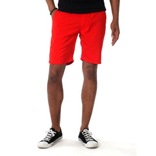 Filthy Etiquette Men's Red Flat Front Shorts