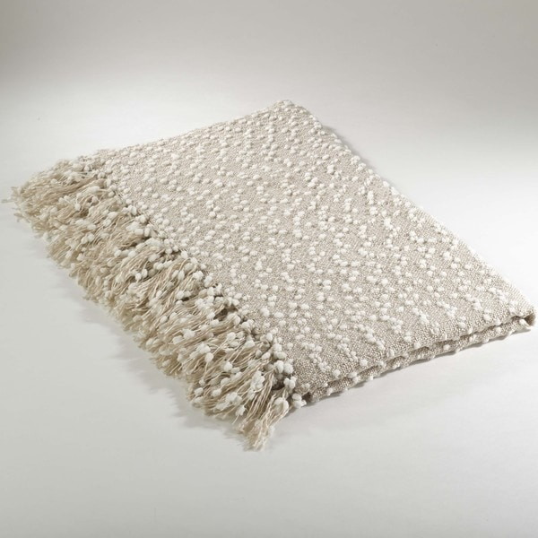 Petite Pompon Design Throw