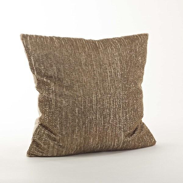 Seed Bead Design Throw Pillow