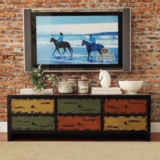 Soho Rustic Antique Multicolor 6-drawer Media Storage Console