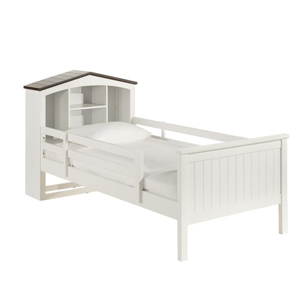 Natalia White Playhouse Twin-size Bed