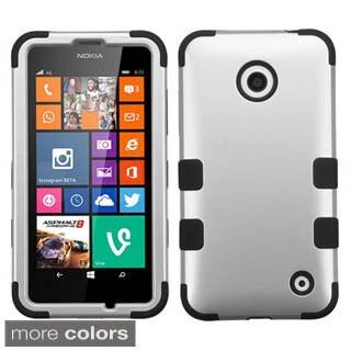 Insten Tuff Hard PC/ Silicone Dual Layer Hybrid Rubberized Matte Phone Case Cover For Nokia Lumia 630/635