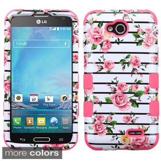 Insten Hard PC/ Silicone Dual Layer Hybrid Rubberized Matte Phone Case Cover For LG Optimus L90