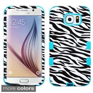 Insten Design Pattern Hard PC/ Silicone Dual-layer Hybrid Rubberized Matte Phone Case for Samsung Galaxy S6