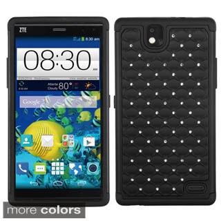 Insten Hard PC/ Silicone Dual Layer Hybrid Rubberized Matte Phone Case Cover with Diamond For LG G4