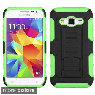 Insten Advanced Armor Hard PC/ Silicone Dual Layer Hybrid Phone Case Cover with Stand For Samsung Galaxy Core Prime