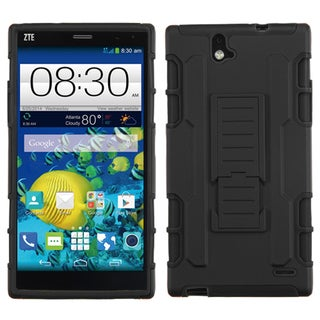 Insten Car Armor Hard PC/ Silicone Dual-layer Hybrid Phone Case with Holster for ZTE Grand X Max/ Grand X Max+