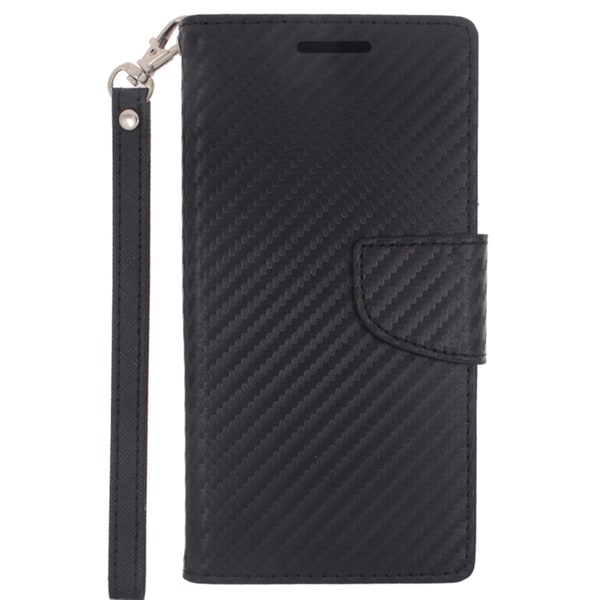 Insten Green Leather Phone Case Cover Lanyard with Stand/Wallet Flap Pouch For HTC One M9