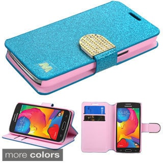 Insten Leather Glitter Wallet Flap Pouch Phone Case with Stand for Samsung Galaxy Avant