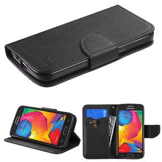 Insten Black Leather Phone Case Cover with Stand/ Wallet Flap Pouch For Samsung Galaxy Avant