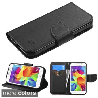 Insten Black Leather Wallet Flap Pouch Phone Case Cover with Stand For Samsung Galaxy Core Prime