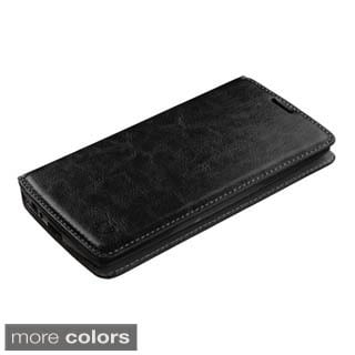 Insten Pink Leather Phone Case Cover with Stand/Wallet Flap Pouch For LG G4