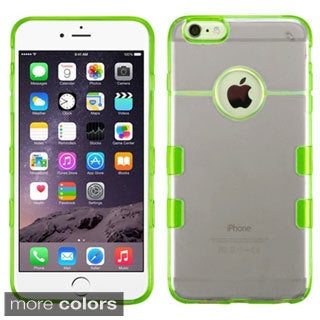 Insten Black/Green Clear TPU Rubber Candy Skin Phone Case Cover For Apple iPhone 6 Plus