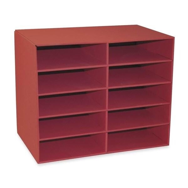 "Pacon Creative Products 10-Shelf Organizer, 12-7/8""x21""x17"", Shelves 12-1/2""x10""x3 15370568"
