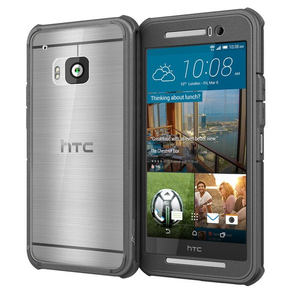 rooCASE Glacier Tough Clear-back Phone Case for HTC One M9
