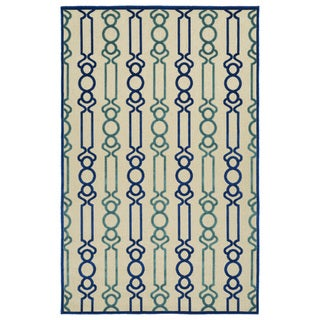 Indoor/Outdoor Luka Navy Mod Rug (5'0 x 7'6)