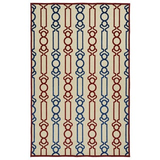 Indoor/Outdoor Luka Red Mod Rug (5'0 x 7'6)