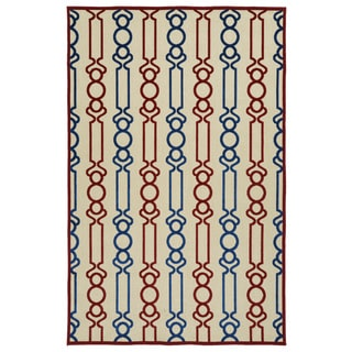 Indoor/Outdoor Luka Red Mod Rug (8'8 x 12'0)