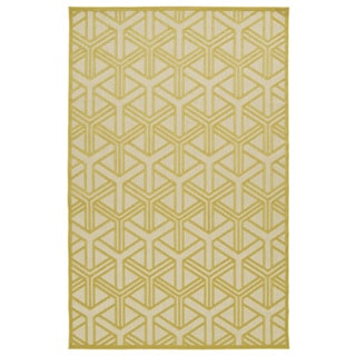 Indoor/Outdoor Luka Gold Dimensions Rug (7'10 x 10'8)