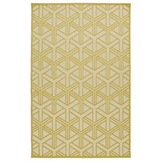 Indoor/Outdoor Luka Gold Dimensions Rug (8'8 x 12'0)