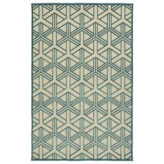 Indoor/Outdoor Luka Blue Dimensions Rug (7'10 x 10'8)