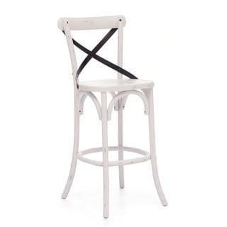 Union Square Bar Chair Antique White