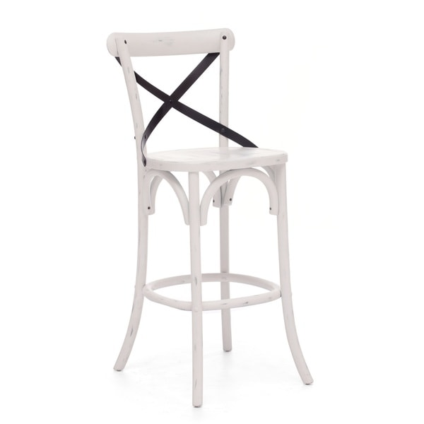 Union Square Bar Chair Antique White