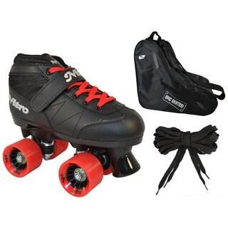 Epic Super Nitro Red Quad Speed Roller Skates (3-piece Bundle)