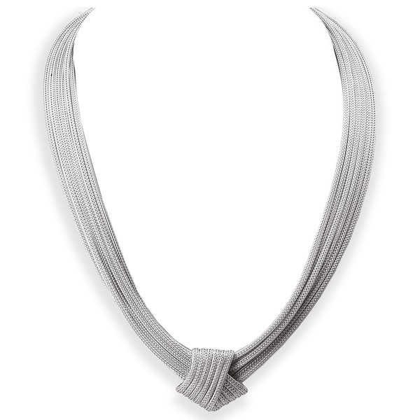 Avanti Sterling Silver Italian Fancy Knot Necklace