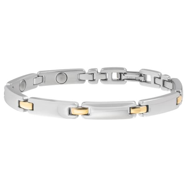 Sabona Lady Executive Silver Duet Magnetic Bracelet