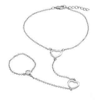 Sterling Essentials Sterling Silver Heart Harness Bracelet