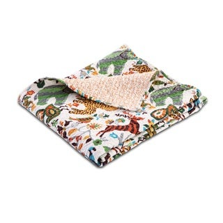 Greenland Home Fashions Safari Park Reversible Quilted Cotton Throw