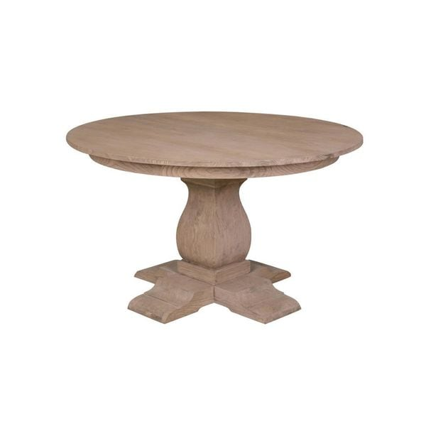Ebro Tan Round Dining Table Overstock Shopping Great Deals On
