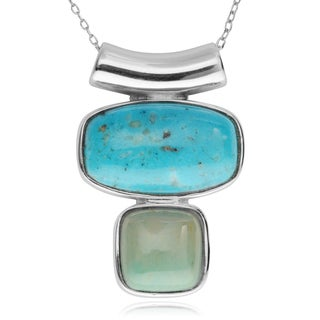 Journee Collection Sterling Silver Multi-stone Pendant