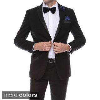 Zonettie-Ferrecci Men's 2-button Double Vented Tuxedo Blazer