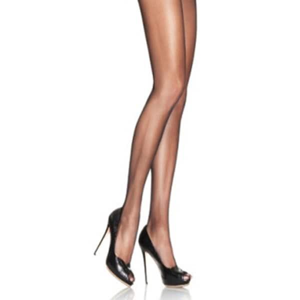 Black Lycra Sheer To Waist Support Pantyhose